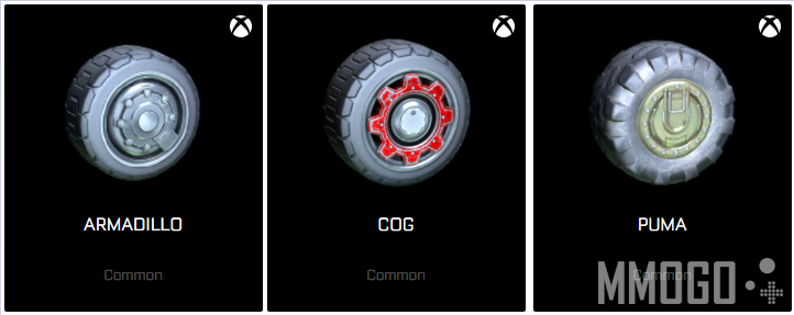 3 exclusive wheels for xbox one version Rocket League.