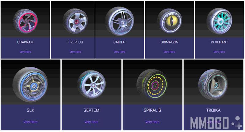 Very rare wheels in Rocket League