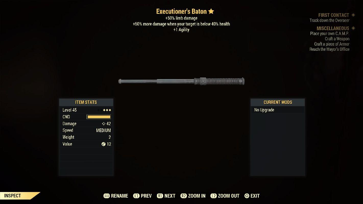 Executioner's Baton- Level 45