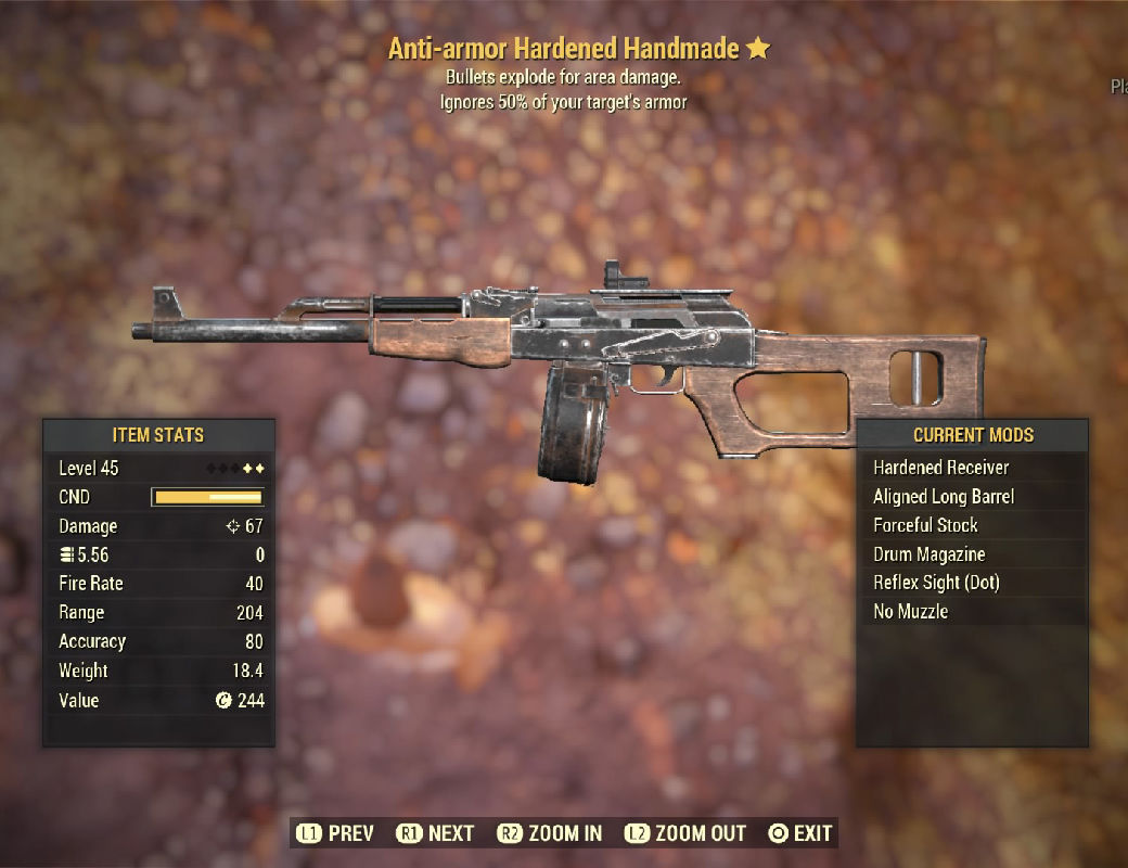 Anti-armor Hardened Handmade - Level 45