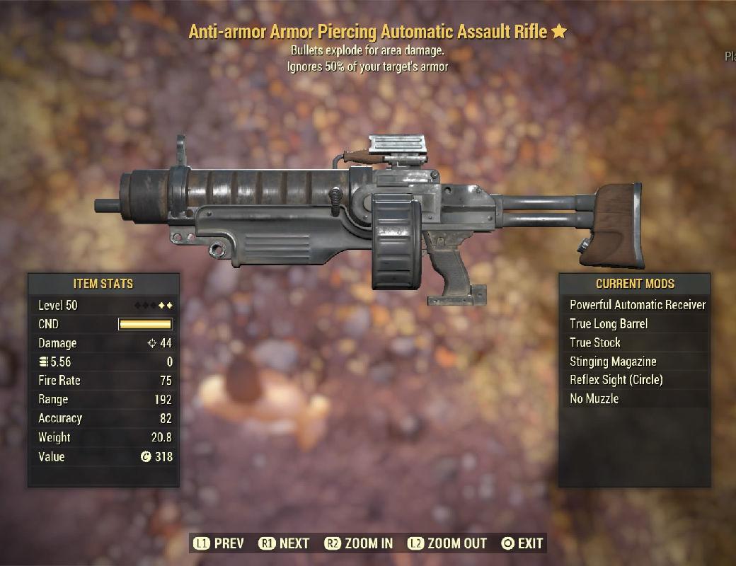 Anti-armor Armor Piercing Automatic Assault Rifle - Level 45