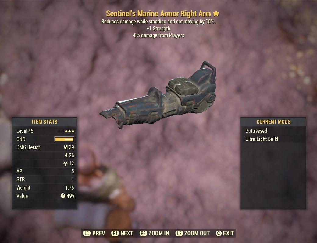 Sentinel'sMarineArmorRightArm-Level45(-8%damageFormPlayers)